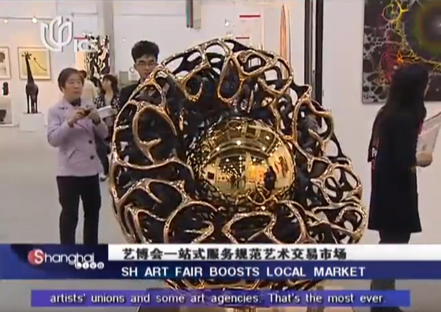 Pashmin Art Gallery in Chinese TV, ICS about Shanghai Art Fair 2012