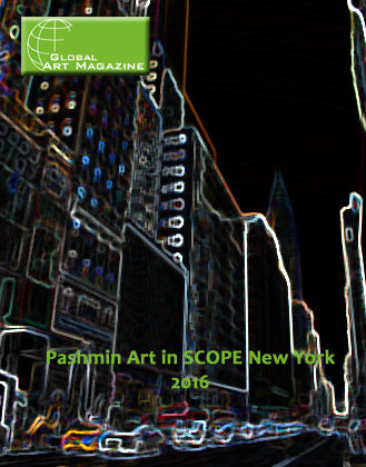 "Global Art Magazine ""Pashmin Art in SCOPE New York 2016"""